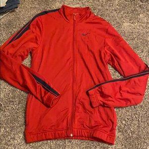 Nike medium red and navy blue men's jacket